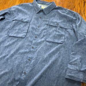 Magellan blue Angler Fit, 3XL mens shirt